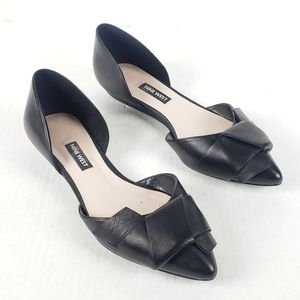 Nine West Black Solevieve Origami D'orsay Flats 7